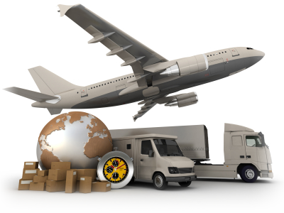 Aircraft and air cargo carriers used by the team at Stile International in New York